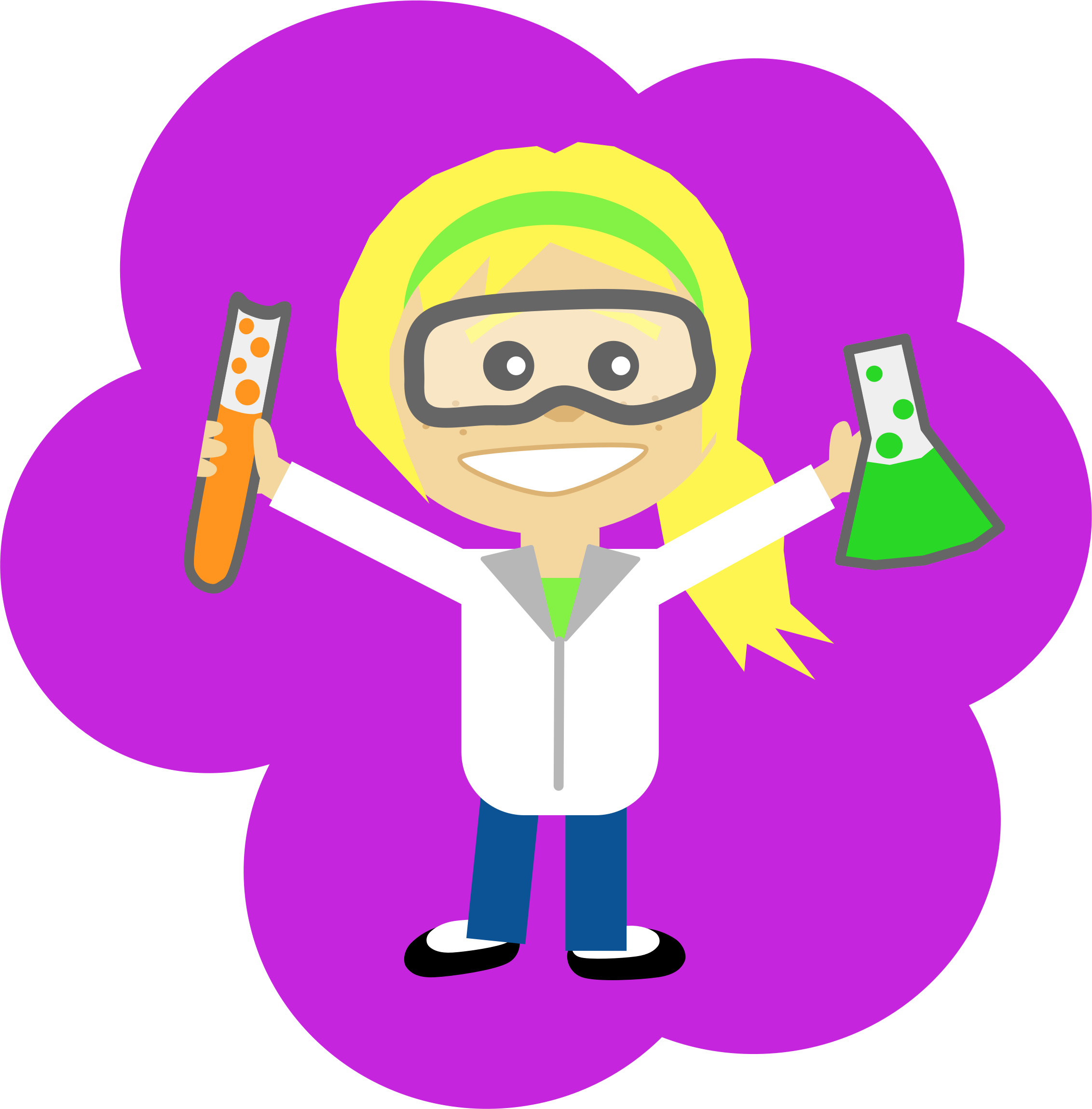 File science girl png. Baseball with ponytail clipart