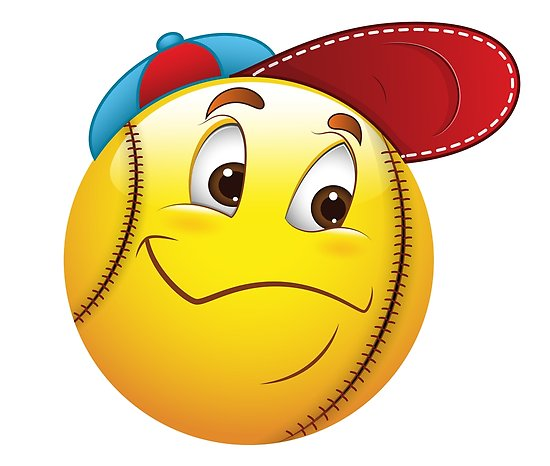 Baseball with smile face clipart clipart transparent download \'Baseball Smiley Face Emoticon\' Poster by allovervintage clipart transparent download
