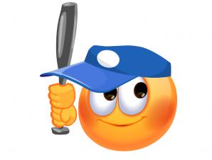 Baseball with smile face clipart image freeuse stock Baseball Smileys | Free Emoticons Gallery | Grady | Emoji 2017 ... image freeuse stock