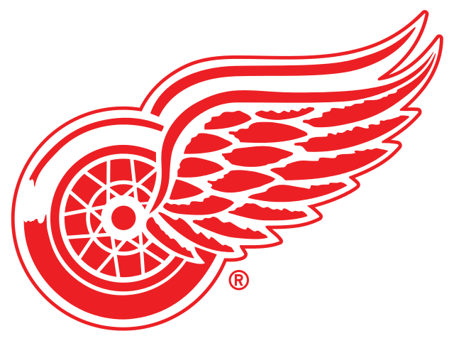 Baseball with wings clipart clip art freeuse stock Detroit Red Wings Logo | File:Detroit Red Wings logo.svg | Man cave ... clip art freeuse stock
