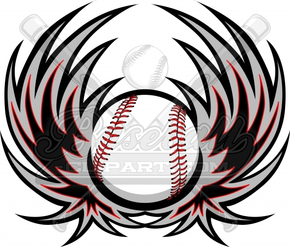 Baseball with wings logo clipart freeuse stock Baseball Clipart Wings Logo. Baseball Image with Wings background. freeuse stock