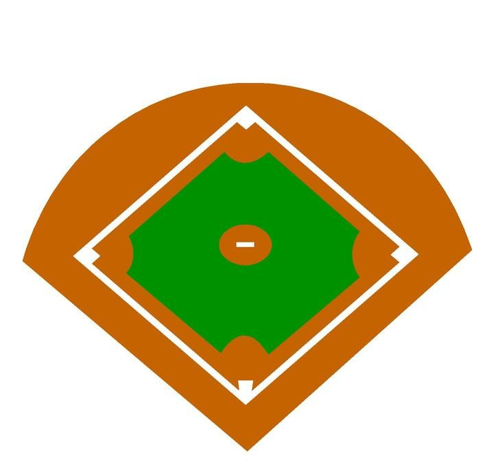 Baseball diamond images clipart vector black and white stock Baseball Field Clipart & Look At Clip Art Images - ClipartLook vector black and white stock