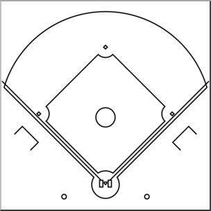 Baseballinfielders mages clipart jpg library library Clip Art: Baseball Infield B&W I abcteach.com | abcteach jpg library library