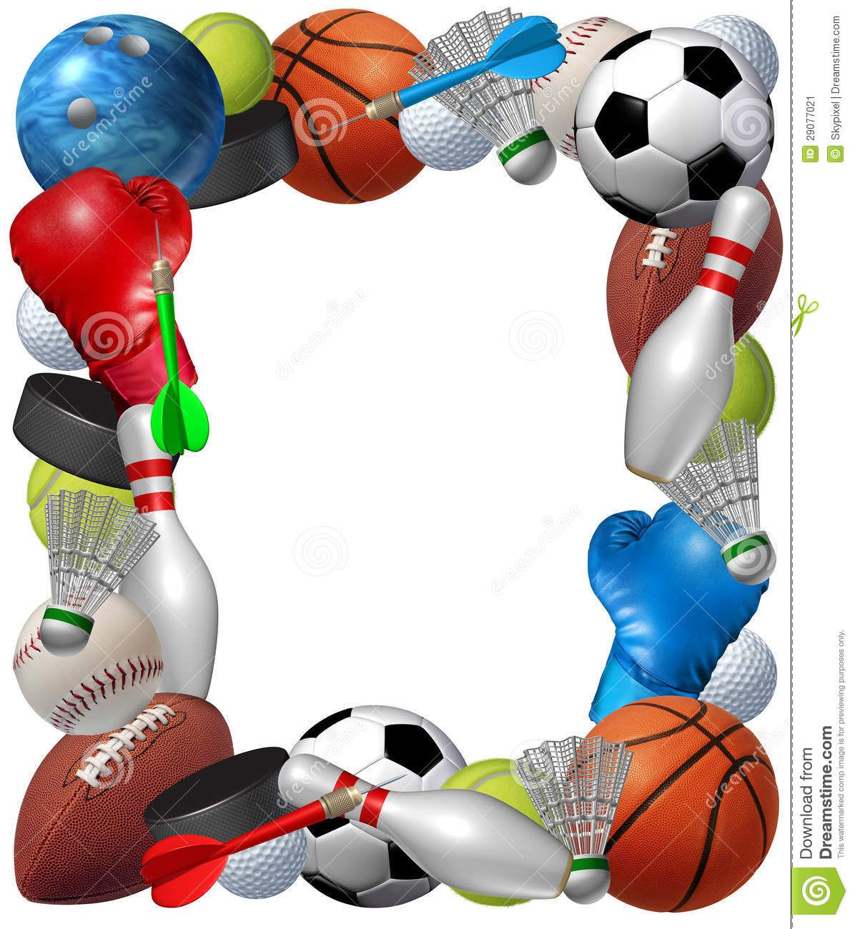 Baseballthemed clipart graphic black and white 55 Awesome sports themed border clip art   mostafa   Sports frames ... graphic black and white