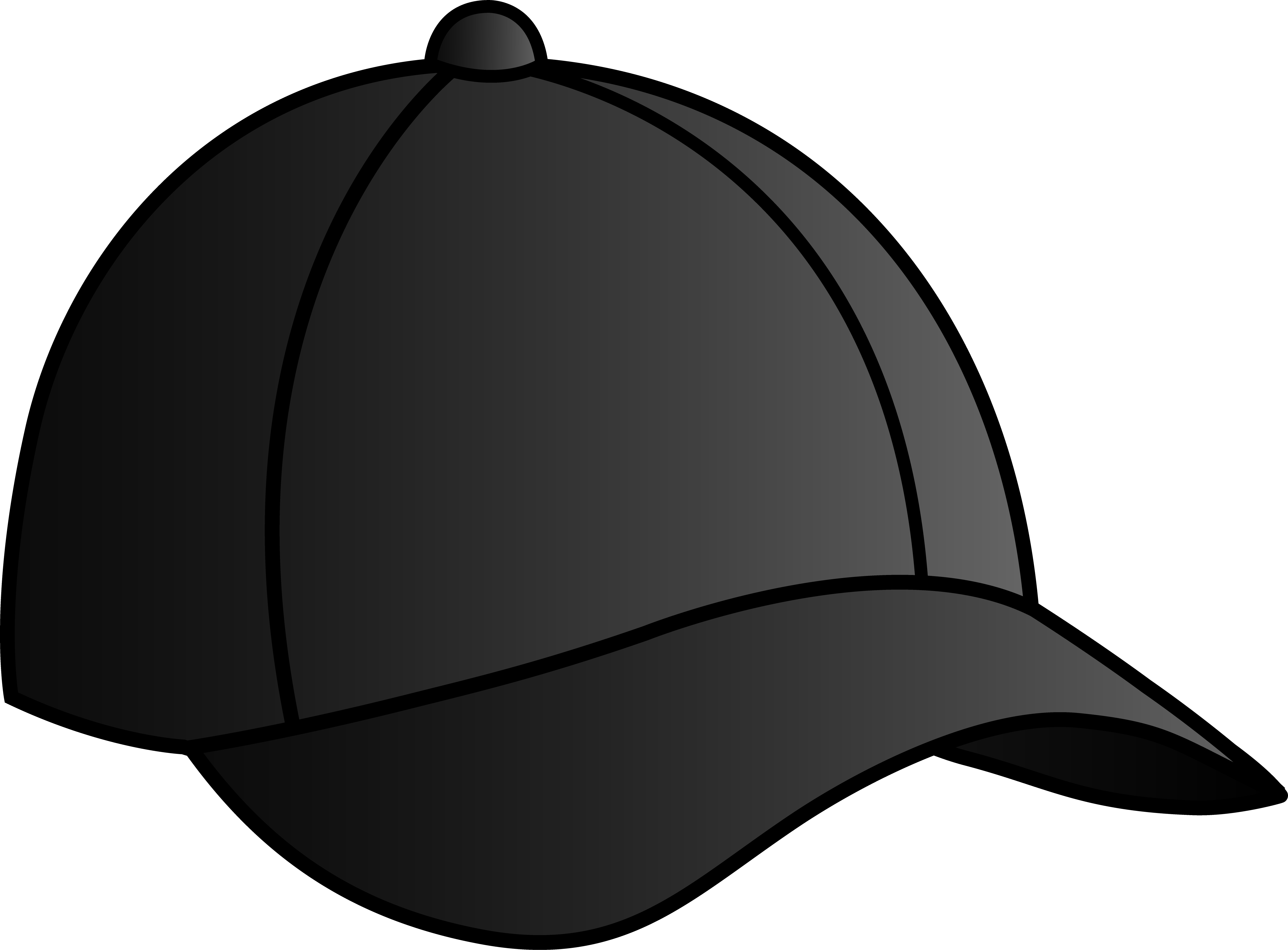 Cartoon baseball hat clipart png black and white Free Baseball Cap Pictures, Download Free Clip Art, Free Clip Art on ... png black and white