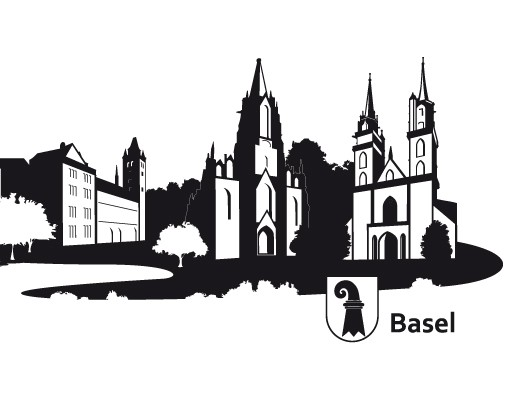 Basel clipart image freeuse download Wall Decal no.RS5 Skyline Basel image freeuse download