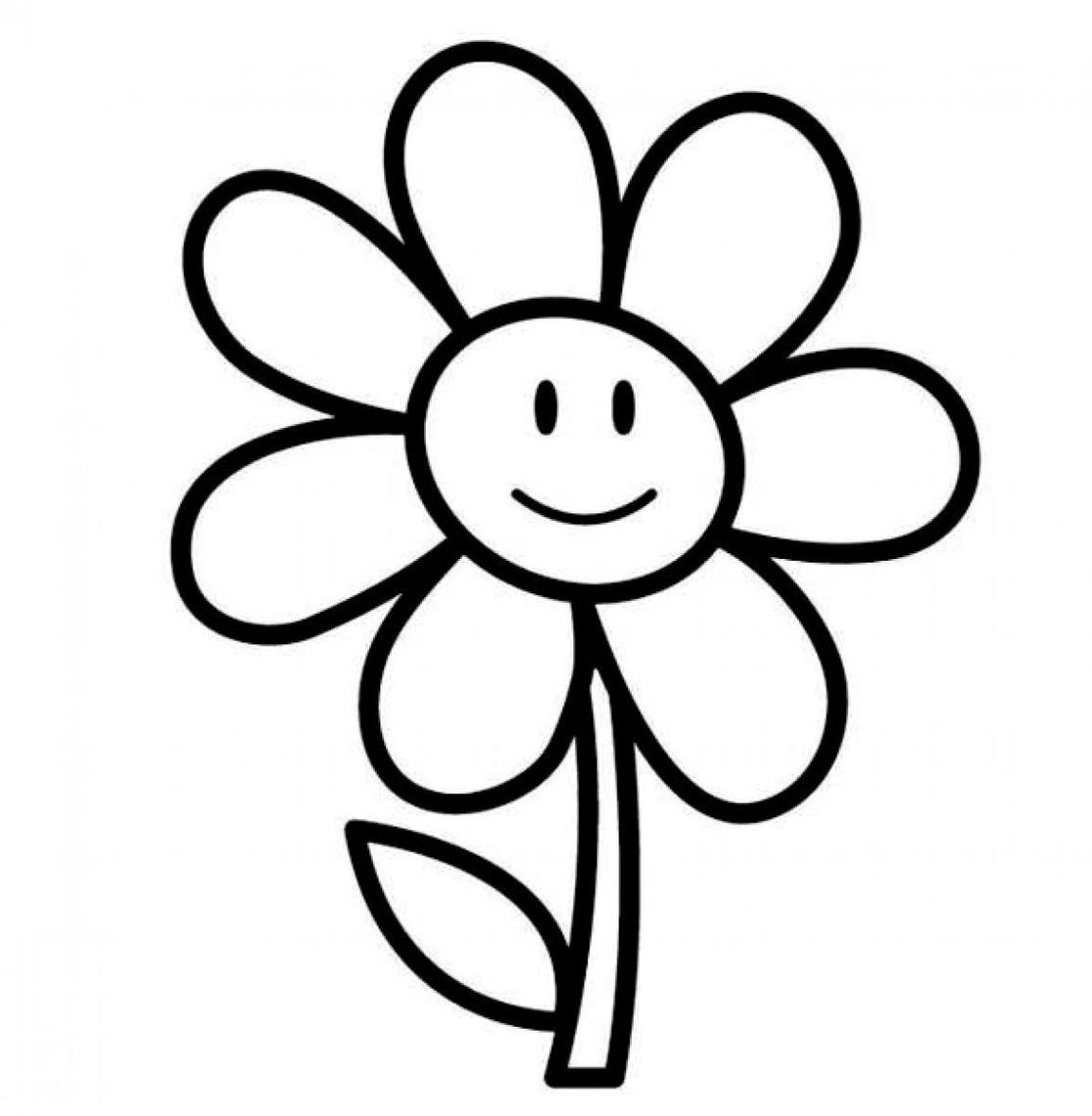 Flower clipart simple black and white. Free download best