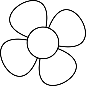 Free . Flower clipart simple black and white