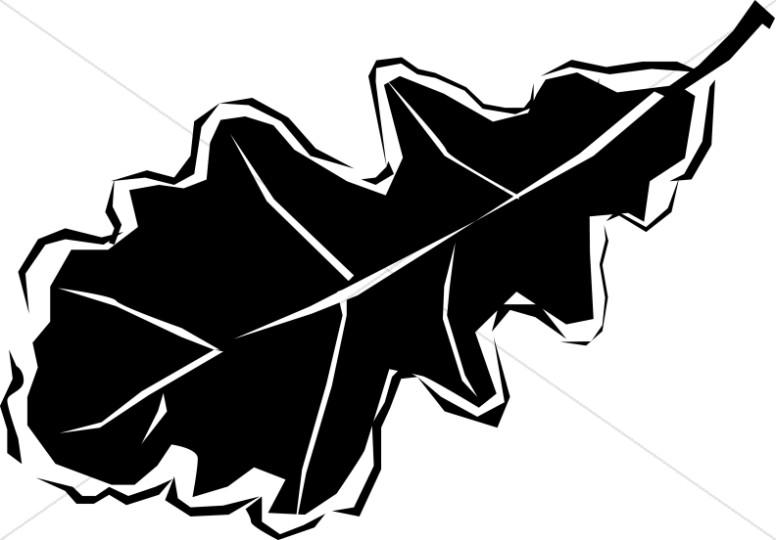 Basic black and white oak leaf clipart jpg freeuse stock Black and White Oak Leaf   Leaf Clipart jpg freeuse stock