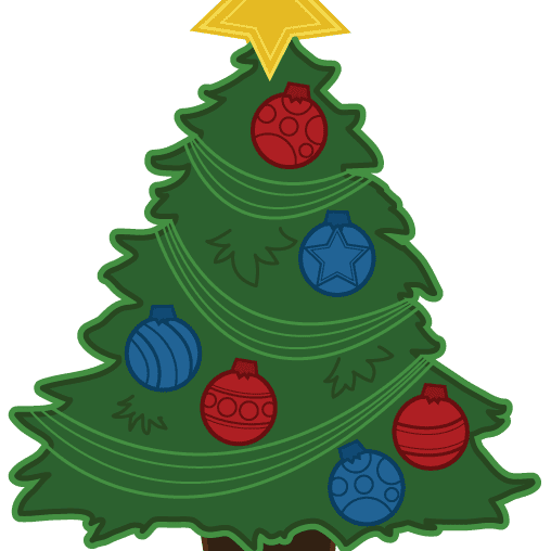 Tiny christmas tree clipart simple vector The Best Free Christmas Tree Clip Art Images vector