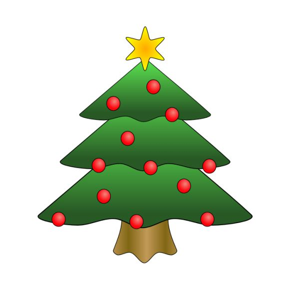 Christmas tree top view clipart clip transparent stock The Best Free Christmas Tree Clip Art Images clip transparent stock