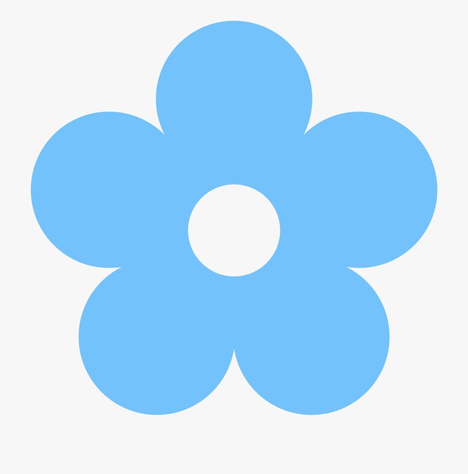Basic clipart flower jpg free Basic Flower Clipart - Flower Blue Clip Art #43199 - Free Cliparts ... jpg free