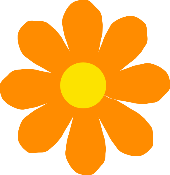 Orange flower border clipart vector freeuse stock Basic Flower Clipart at GetDrawings.com | Free for personal use ... vector freeuse stock