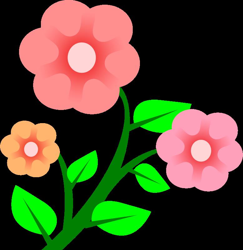 Basic flower clipart.  flowers by peileppe