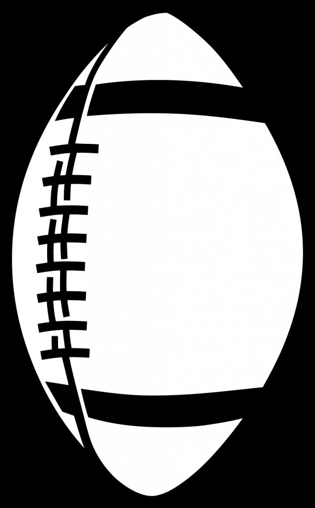 Basic football clipart black and white Football Clipart – WeNeedFun black and white