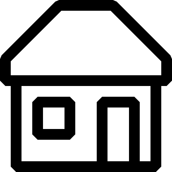 House clipart black and white outline banner black and white library Black And White House Clip Art at Clker.com - vector clip art online ... banner black and white library