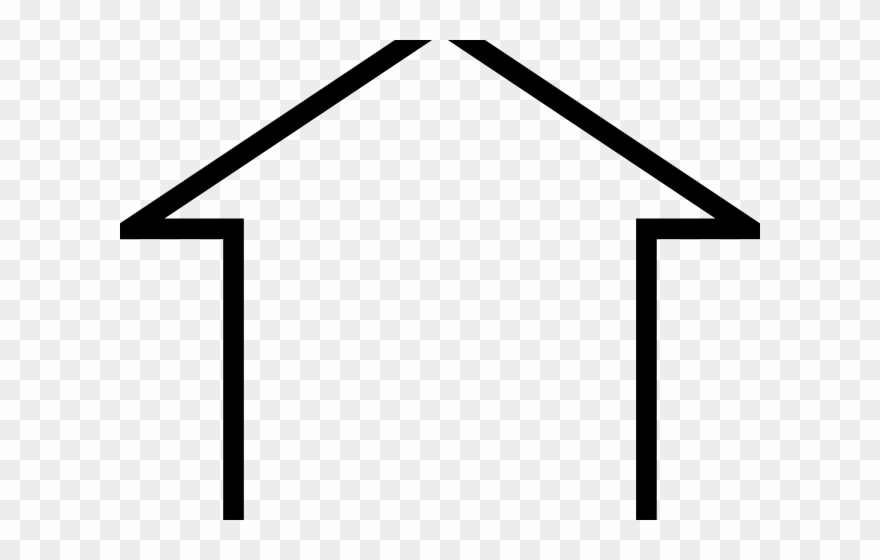 Clipart basic jpg free stock White House Clipart Basic - Simple Home Outline - Png Download ... jpg free stock