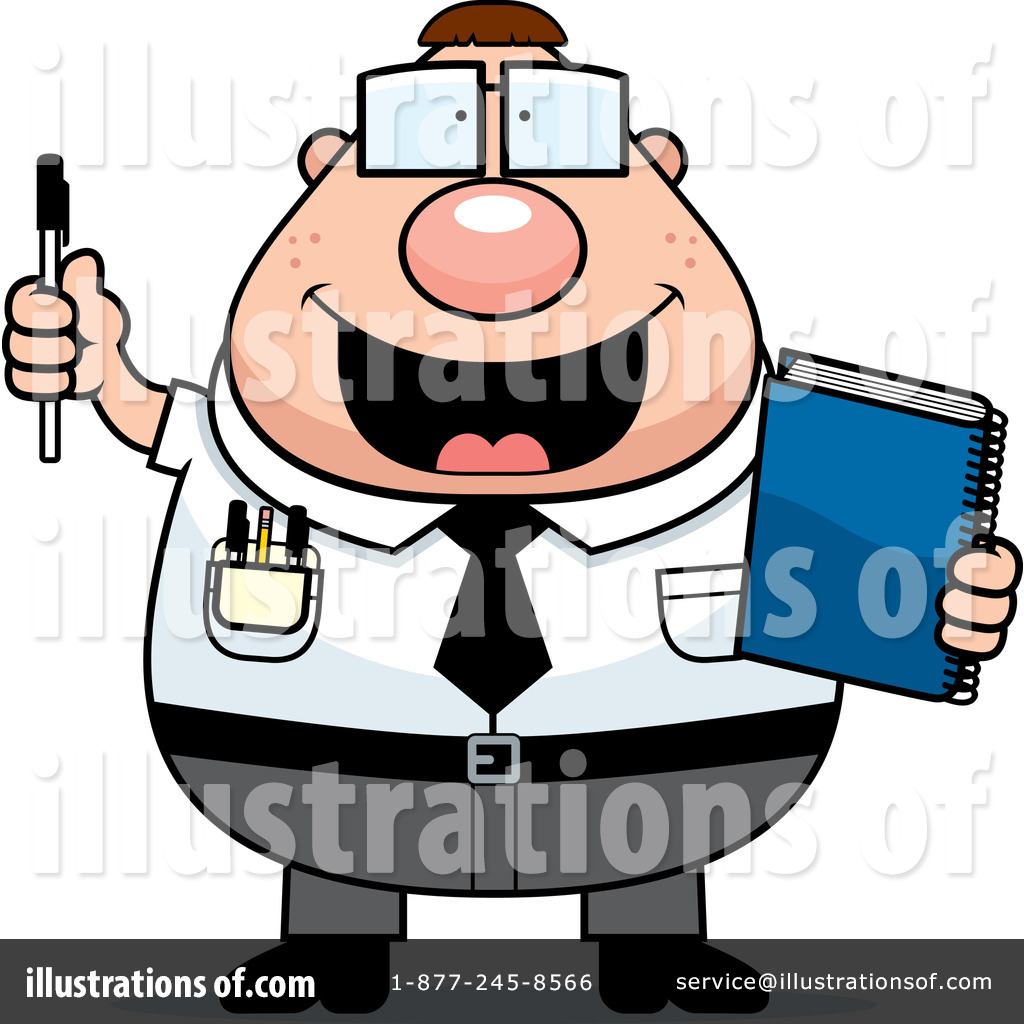 Basic nerd clipart clip art black and white library Nerd Clipart #438242 - Illustration by Cory Thoman clip art black and white library