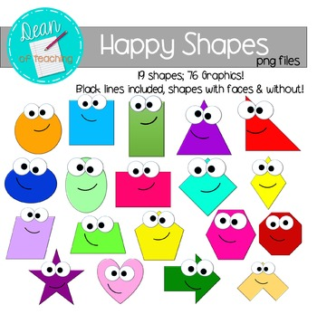 Basic shapes clipart free clipart royalty free library Free Geometry Clip Art | Teachers Pay Teachers clipart royalty free library