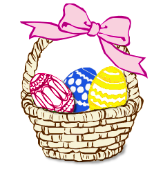Basket clipart easter vector Free Easter Basket Clipart - Public Domain Holiday/Easter clip art ... vector