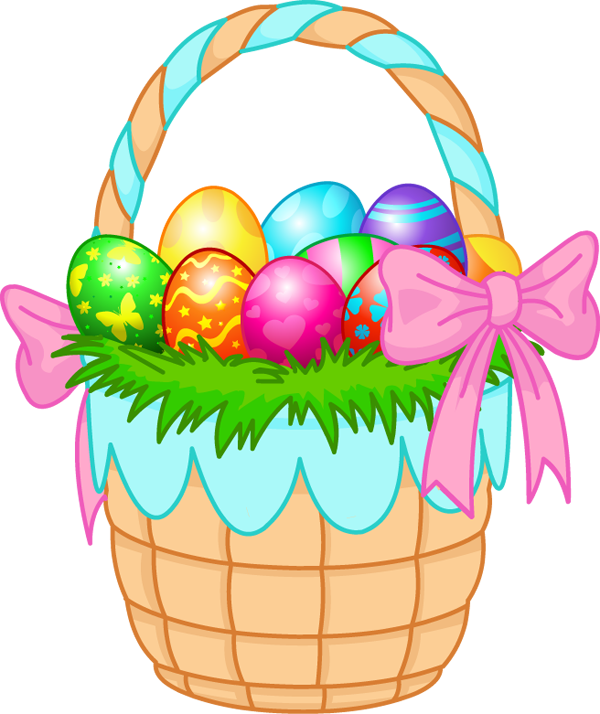 Egg hunt clipart free clip black and white Easter basket free clipart images - ClipartFest clip black and white
