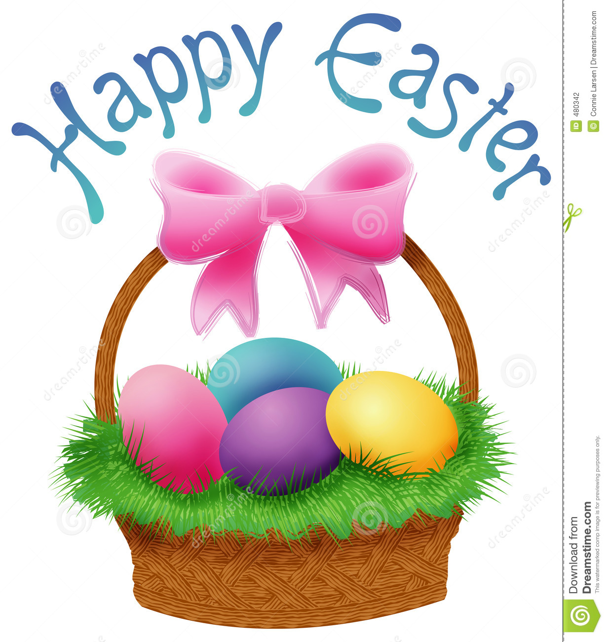 Basket clipart easter jpg transparent Happy Easter Basket Clipart jpg transparent