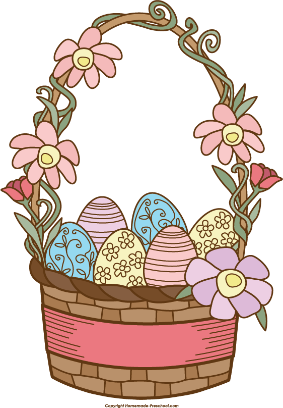 Basket clipart easter jpg freeuse Easter basket free clipart images - ClipartFest jpg freeuse