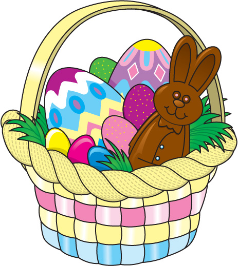 Basket clipart easter clip art black and white stock Easter basket free clipart images - ClipartFest clip art black and white stock