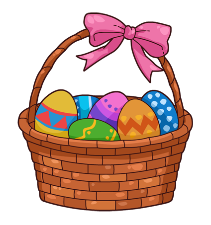 Basket clipart easter graphic transparent Easter basket free clipart images - ClipartFest graphic transparent