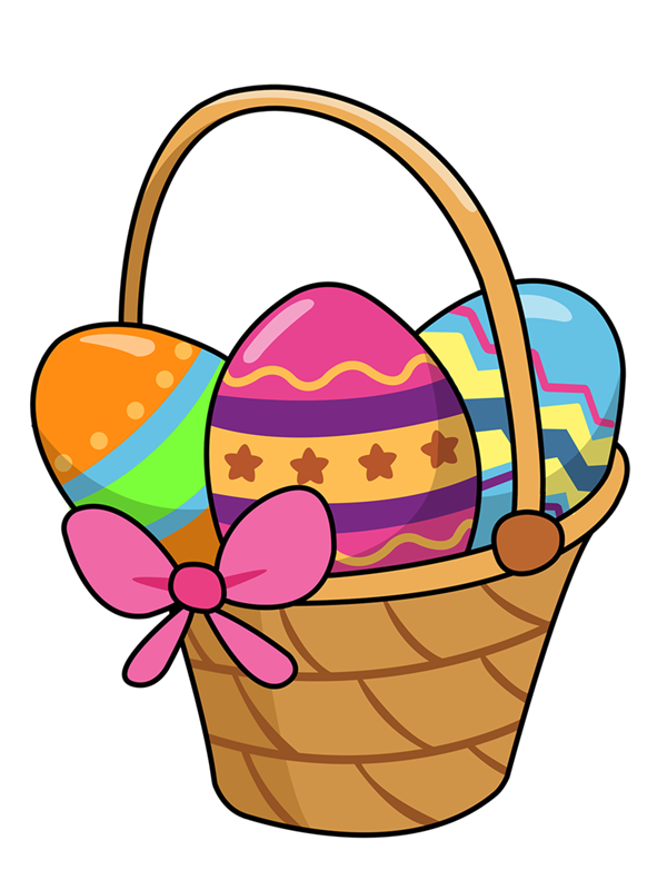 Basket clipart easter jpg library download Easter basket free clipart images - ClipartFest jpg library download
