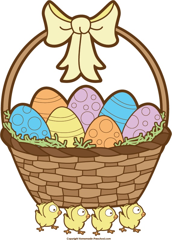 Clipart of easter basket jpg black and white Easter Basket Clip Art & Easter Basket Clip Art Clip Art Images ... jpg black and white