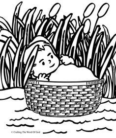 Basket clipart moses clipart library download 260 Best 2019_06 Moses in Basket Prop A16 images in 2019   Baby ... clipart library download