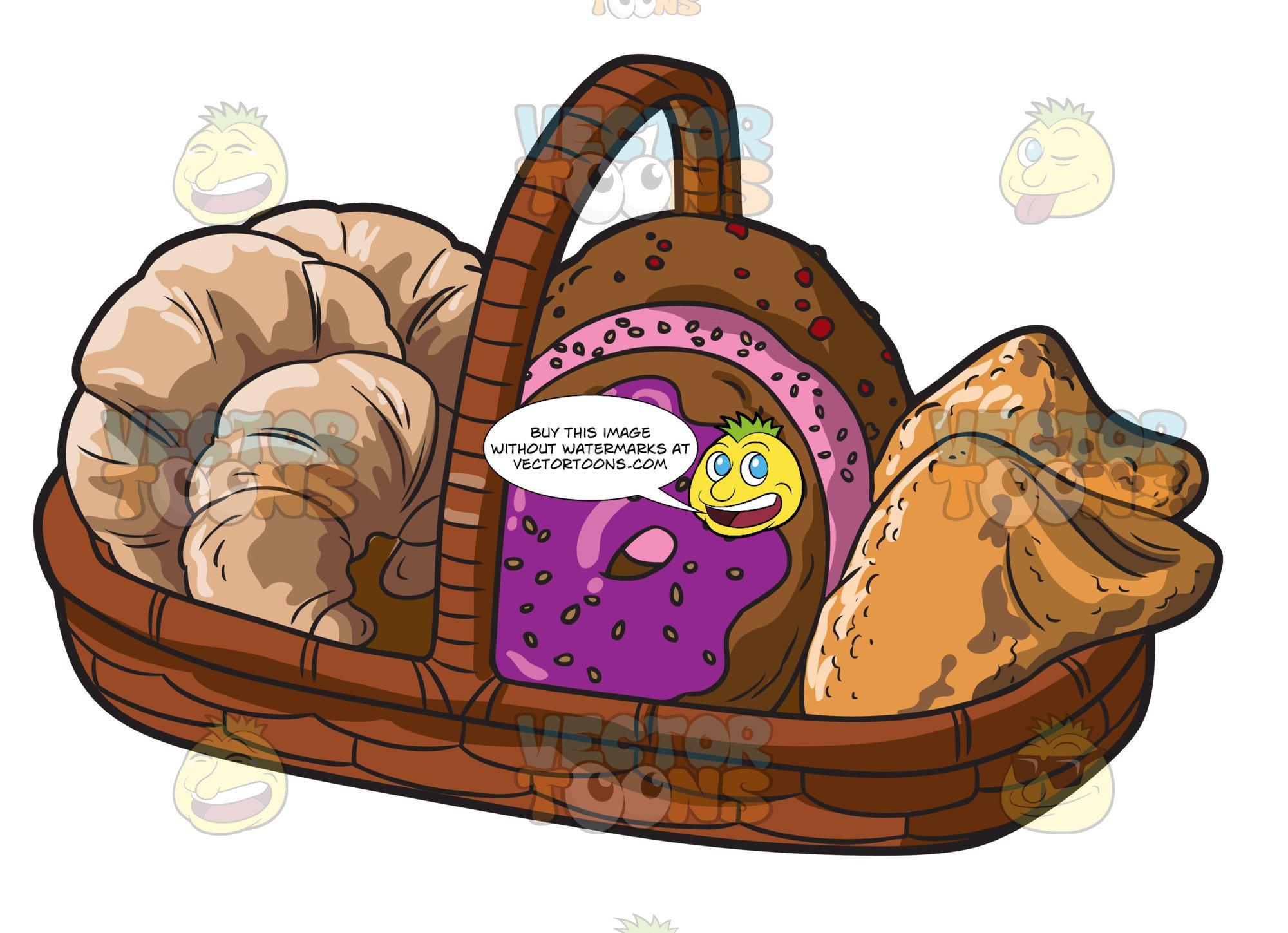 Basket full of bread clipart svg transparent stock A Basket Of Freshly Baked Breads svg transparent stock