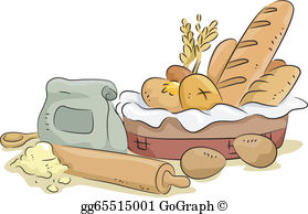 Baking items clipart graphic royalty free download Bread Basket Clip Art - Royalty Free - GoGraph graphic royalty free download