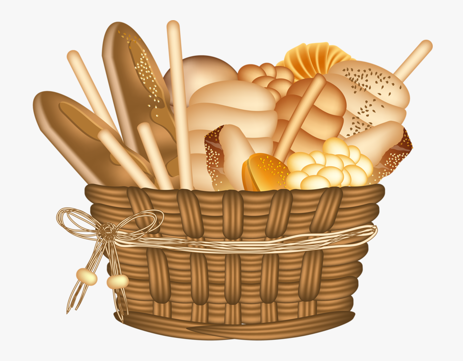 Basket full of bread clipart picture library Bakery Clipart Bakery Basket - Bread Basket Clipart #42388 - Free ... picture library