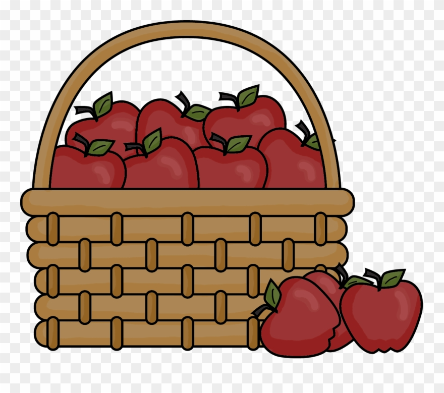 Basket of apples clipart png clip download Apple Basket Clip Art - Apples In A Basket Clipart - Png Download ... clip download