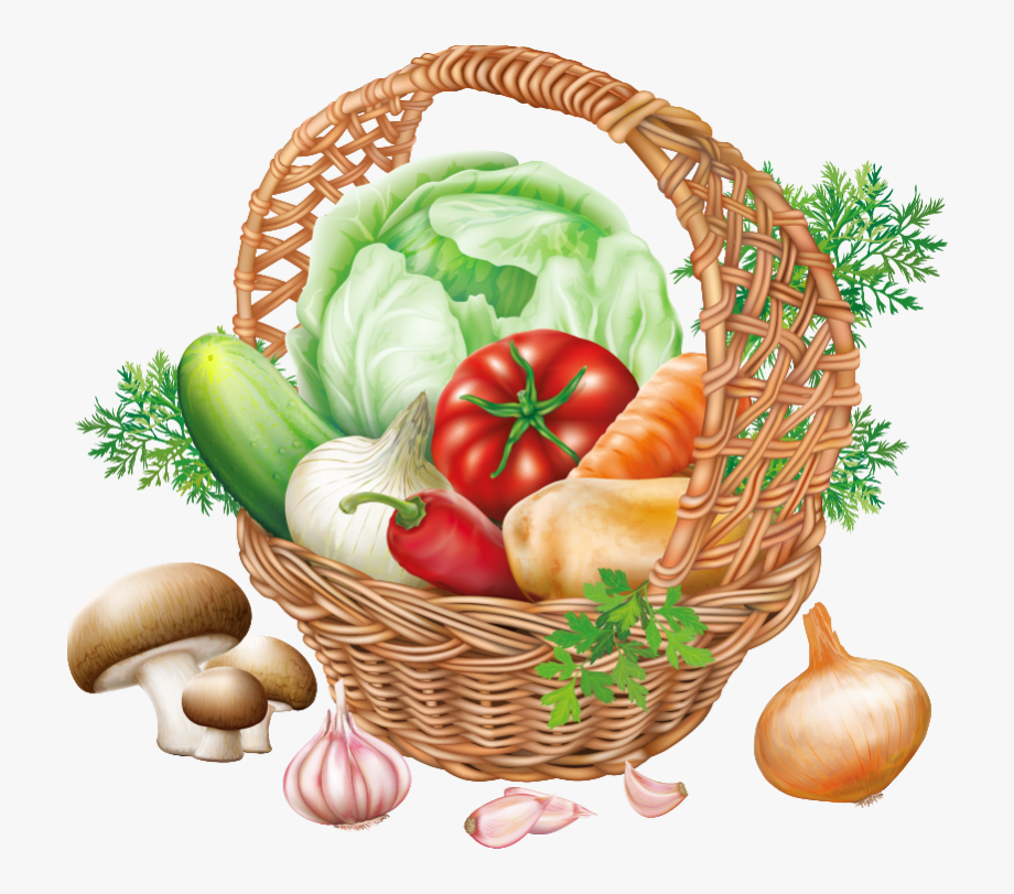 Basket of vegetables clipart clip art free stock Basket With Vegetables Png Clipart Image - Fruits Et Légumes Dessin ... clip art free stock