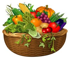 Basket of vegetables clipart image free 390 Best Vegetable Clip Art and Photos images in 2019 | Fruits ... image free