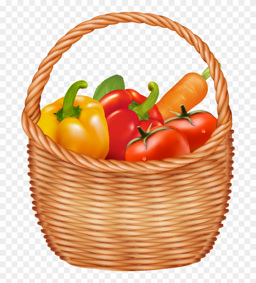 Basket of vegetables clipart clip transparent download Vegetable Basket Clipart At Getdrawings - Fruits And Vegetables ... clip transparent download
