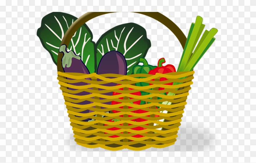 Basket of vegetables clipart banner library Vegetables Clipart Shopping - Vector Basket Png Transparent Png ... banner library