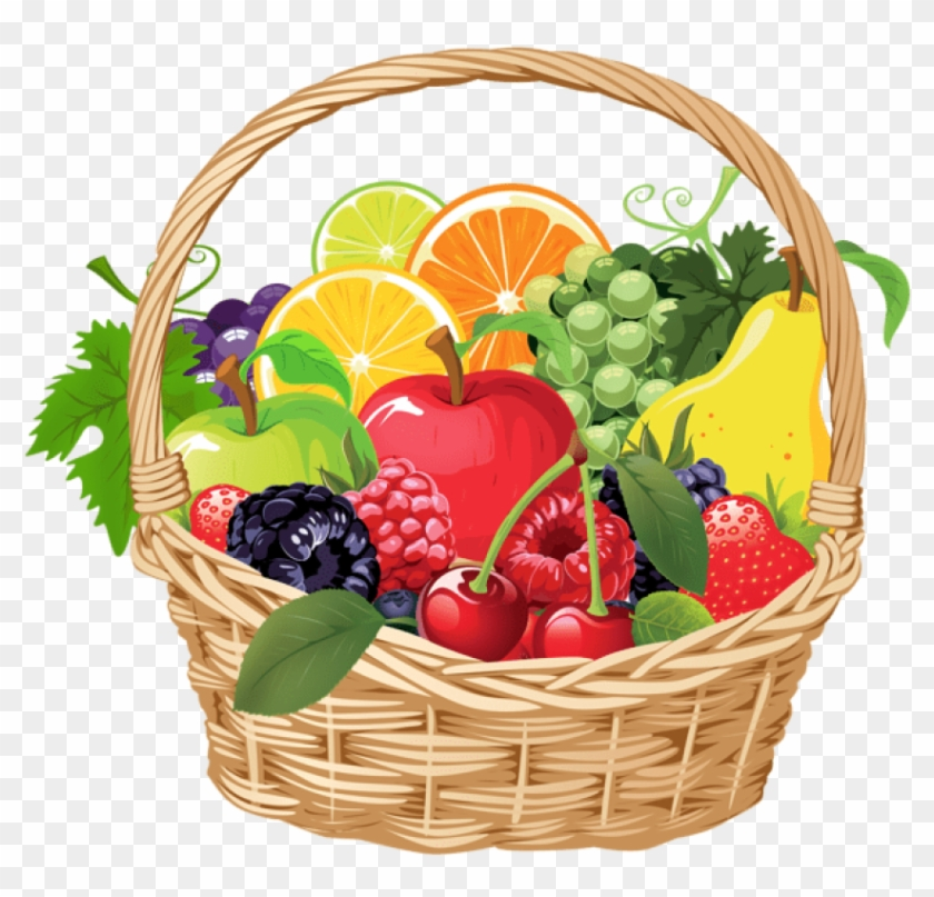 Basket of vegetables clipart image royalty free library Fruit Basket Png Vector Clipart - Basket Of Fruits Clip Art ... image royalty free library
