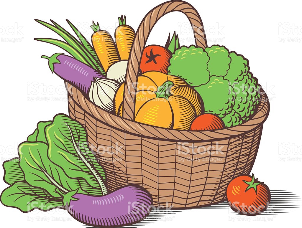 Basket of vegetables clipart clipart black and white stock Basket of vegetables clipart 4 » Clipart Station clipart black and white stock
