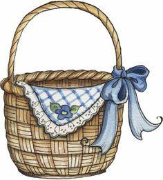 Basket pictures clipart png library download 52 Best basket clipart images in 2016 | Hampers, Vintage images ... png library download