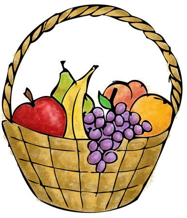 Basket simple clipart jpg royalty free library A description of a group game - Fruit basket. Great for young kids ... jpg royalty free library