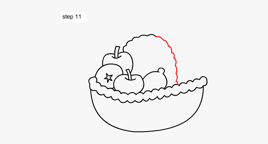 Basket simple clipart jpg library library Learn How - Fruit Basket Drawing Simple #1203189 - Free Cliparts on ... jpg library library