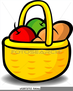 Basket with food clipart clip royalty free library Basket of food clipart » Clipart Portal clip royalty free library