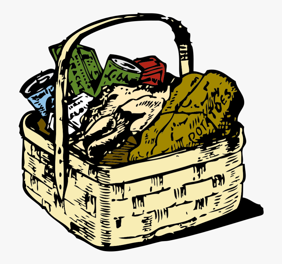 Food basket clipart