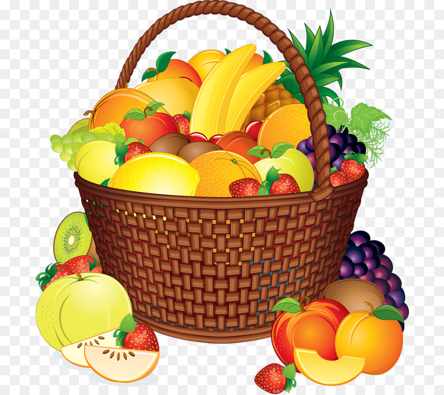 Basket with food clipart image transparent download Gift Cartoon clipart - Fruit, Basket, Food, transparent clip art image transparent download