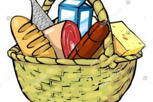 Basket with food clipart vector freeuse Basket of food clipart 2 » Clipart Portal vector freeuse