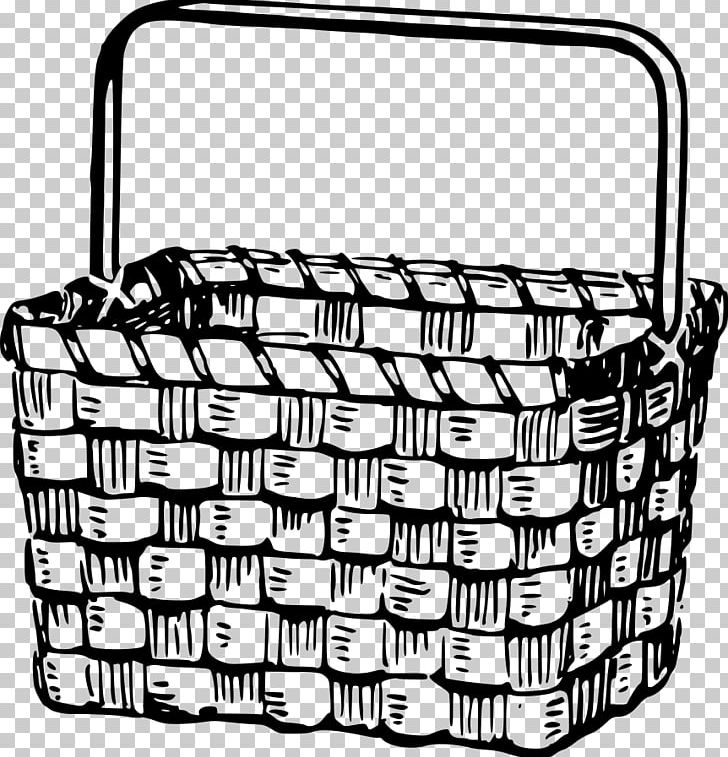 Basket without handles clipart black and white